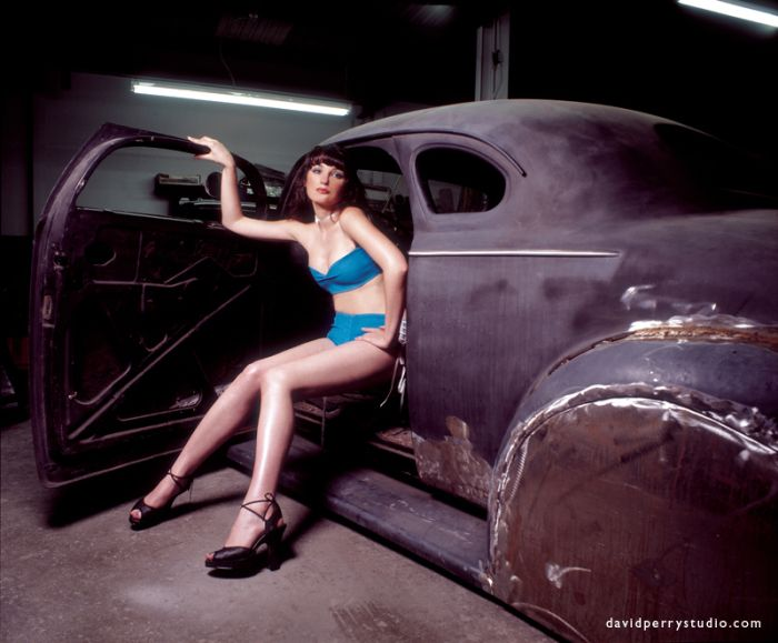 Hot Rod Pin-ups by David Perry