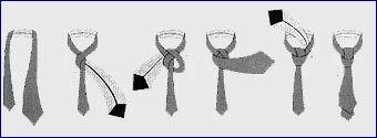 Как завязывать галстук, шарф и платок.