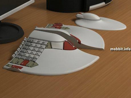 Концептуальная клавиатура – необычная, эргономичная.