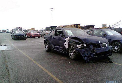 """470 BMW """"погибли"""" при транспортировке"""