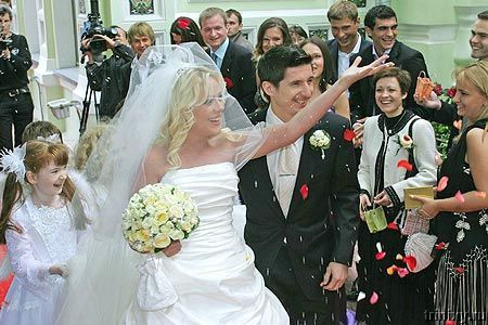 Свадьба юлии началовой и футболиста