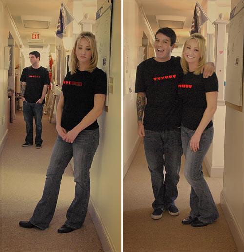 Пара футболок для влюбленных