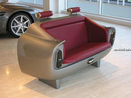 Диванчик в виде сидения из Aston Martin DB6