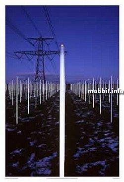 Светящееся поле из ламп, питающихся от электромагнитных полей