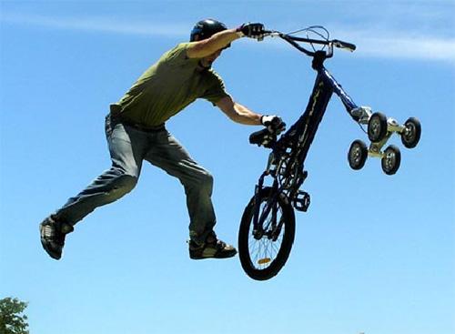 Пятиколесный велосипед из Австралии