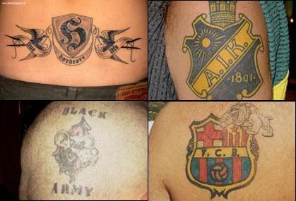 Футбольные татуировки