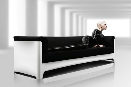 Алюминиевый диван Flow из Бельгии