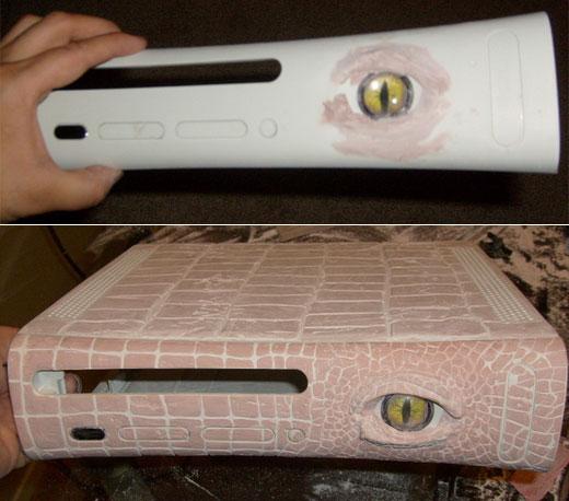 Моддинг Xbox 360 в виде аллигатора