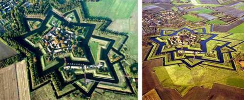 Средневековые бастионы притворились звёздами