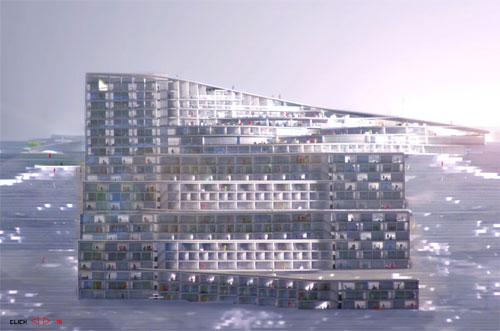Норвежский отель прогнётся для лыжников «зигзагом»