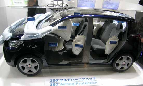 Концепт подушек безопасности для пешеходов от Toyota