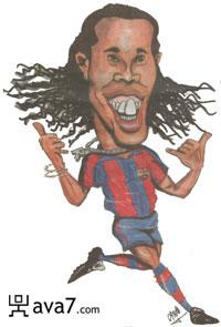 Карикатуры Роналдиньо