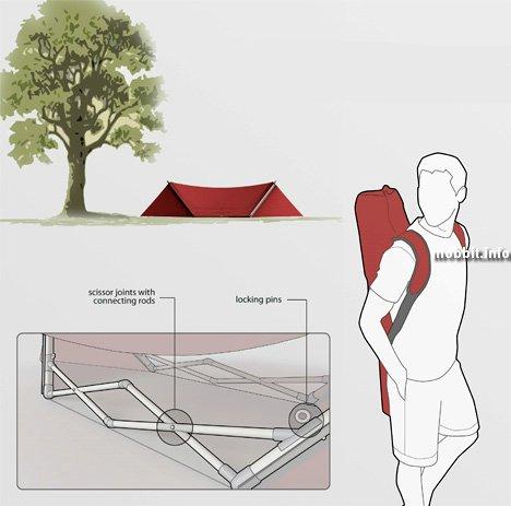 Палатка + гамак в одном