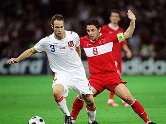 Сборная Турции вырвала победу у сборной Чехии