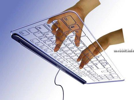 Концептуальная стеклянная клавиатура