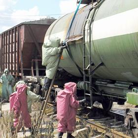 На выходных в Орше сошли с рельсов контейнеры с красным фосфором