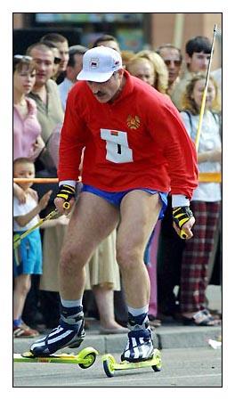 Внимание! Лукашенко пробежит на лыжероллерах