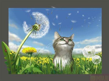 Рисованные коты