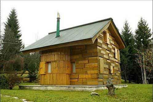 Необычный деревянный дом