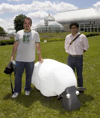 Робот-овца с GPS-приемником
