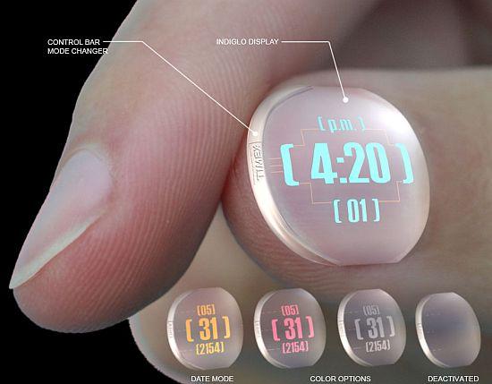 Timex TX54 — часы на ногте