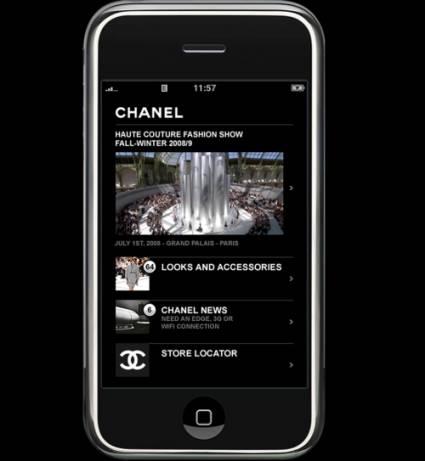 Специальное приложение для iPhone от Chanel