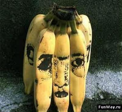 Рисунки на бананах