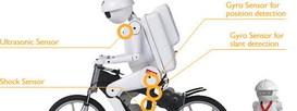 Murata Boy первый в мире робот-велосипедист
