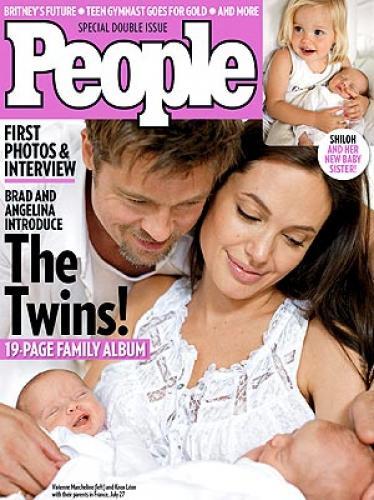 Hello! и People опубликовали фото детей Анджелины Джоли