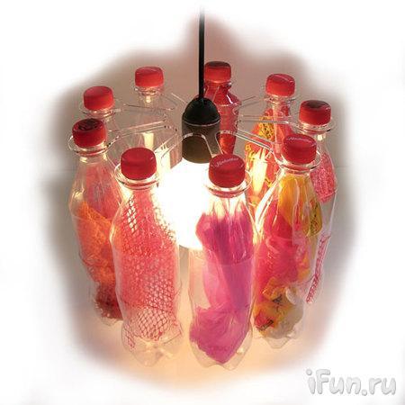 Люстра из бутылок