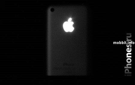 Моддинг: iPhohe со светящимся яблоком на задней панели