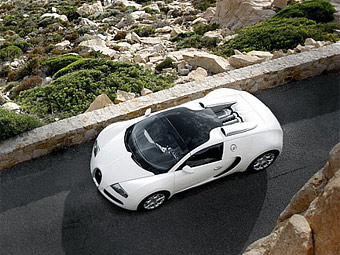 Bugatti Veyron с открытым верхом