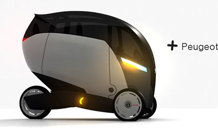 Концепт трехколесного автомобиля Peugeot+