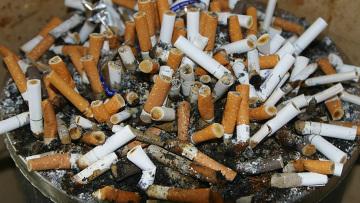 Окурки являются самым распространенным видом отходов
