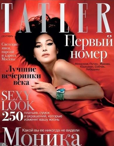 Моника Беллуччи (Monica Bellucci) в издании Tatler Сентябрь 2008