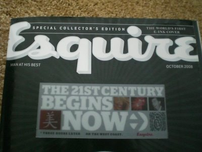 Esquire 10/2008: первый в мире журнал с E-Ink дисплеем