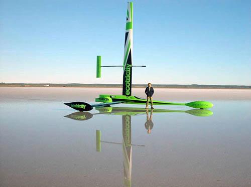 Все готово для нового мирового рекорда скорости на суше, используя только силу ветра