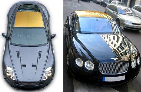 В Лондоне входят в моду золотые крыши для автомобилей