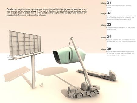 Aeroform - персональный жилой модуль в мегаполисе