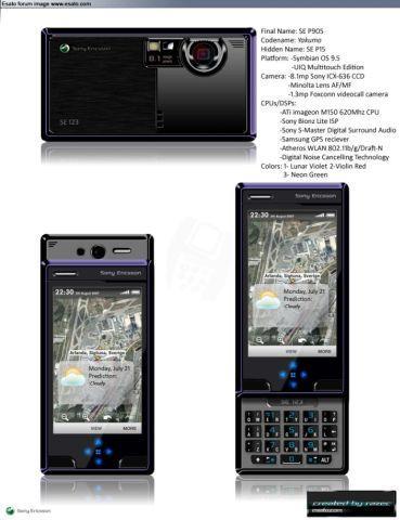 Концепт телефона Sony Ericsson P905 Yokumo