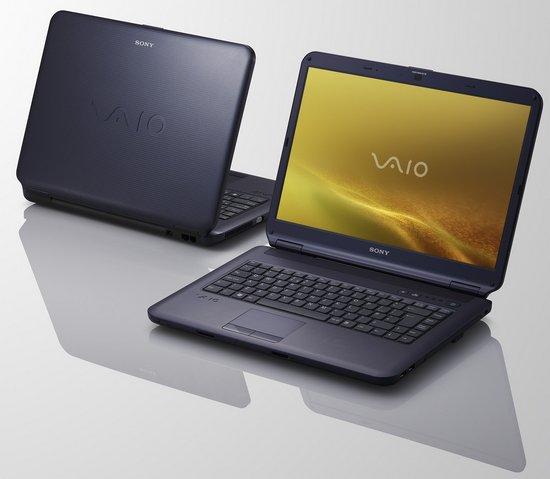 Ноутбуки Sony VAIO: 4 Гб памяти и Blu-ray за $1000
