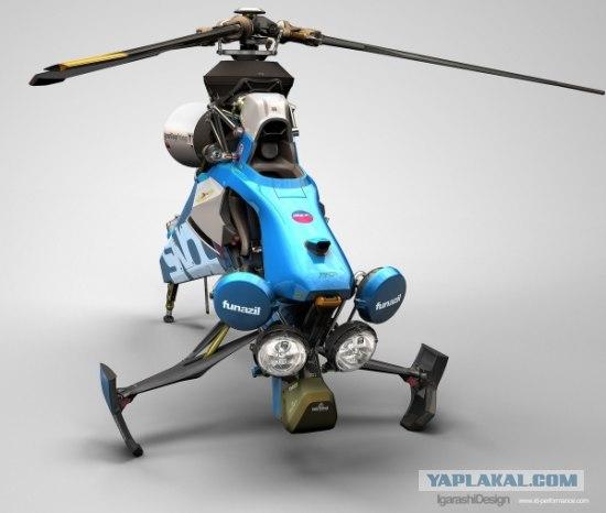 Персональный вертолет, мотоцикл и снегоход