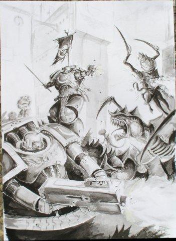 Вархаммер 40к Орден Космодесанта: Ультрамарины  часть 1 (арт)