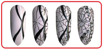 ТОП-9 вариантов осененного дизайна ногтей