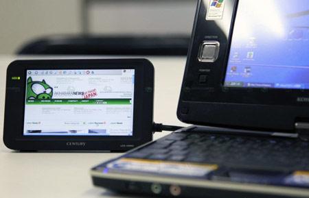 Century LCD-4300U: WVGA-монитор с одним-единственным разъемом и питанием от шины USB