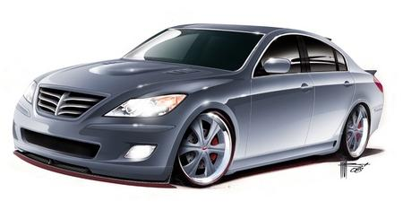 Седан RKSport Hyundai Genesis предстал перед посетителями автовыставки SEM