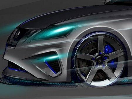 Lexus представит на автошоу SEMA седан GS 460, доработанный тюнингерами из Five Axis
