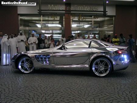 Хромированный Mercedes SLR McLaren: шик по-арабски