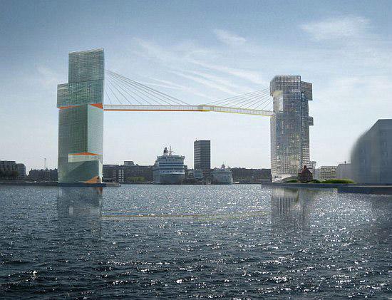 Copenhagen Gateway – проект небоскребов с «воздушным» мостом