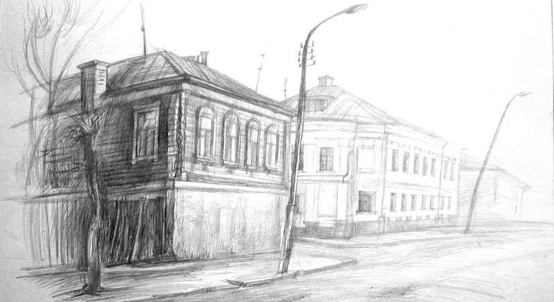 Пейзаж рисунки карандашом 6 класс
